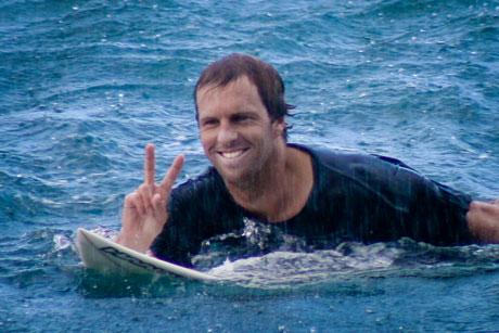 Me surfing in Samoa